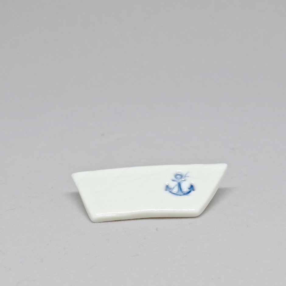 Brož lodička s kotvou